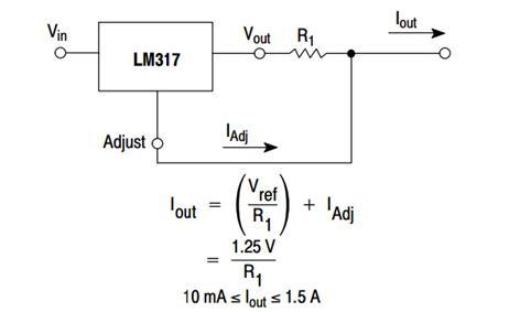Рисунок 1 – Линейный стабилизатор на LM317
