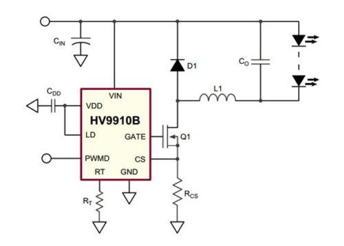 Рисунок 2 – Схема импульсного источника тока на HV9910