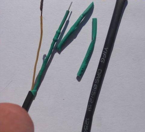 отрезки термоусадочной трубки