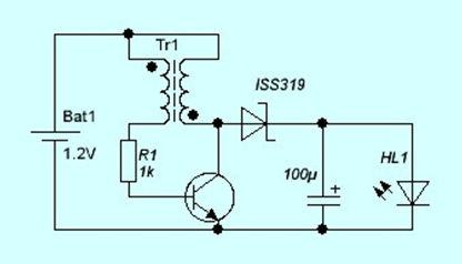 Элементарная схема на транзисторе