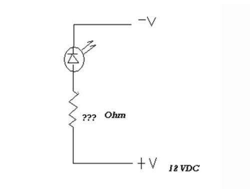Схема подключения светодиода на 12В в простых устройствах