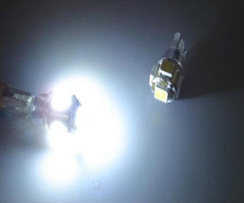 Свечение светодиодных ламп