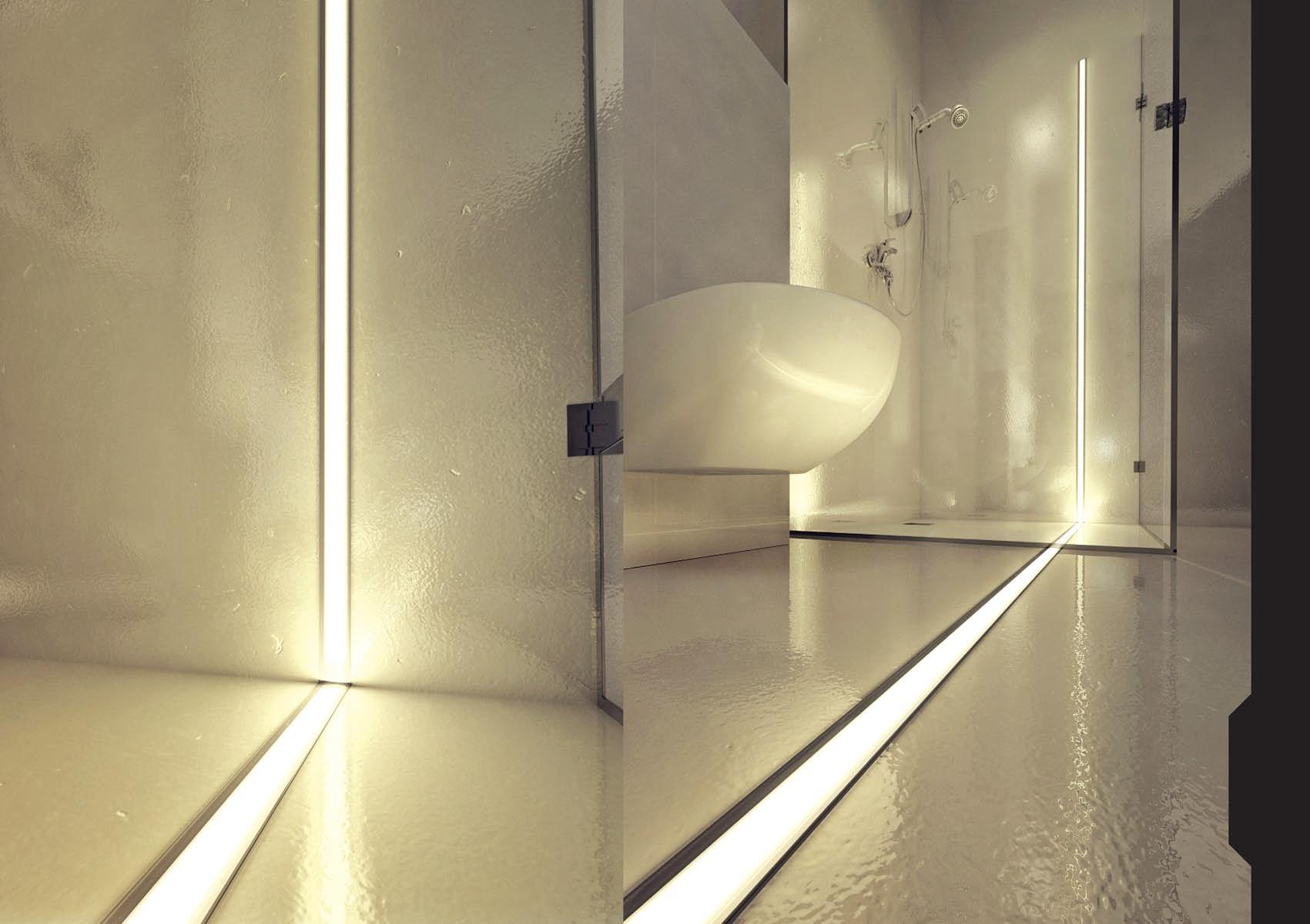 Светодиодная подсветка стен фото